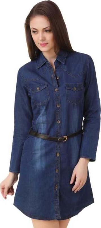Trenton Casual Full Sleeve Solid Women Dark Blue Top