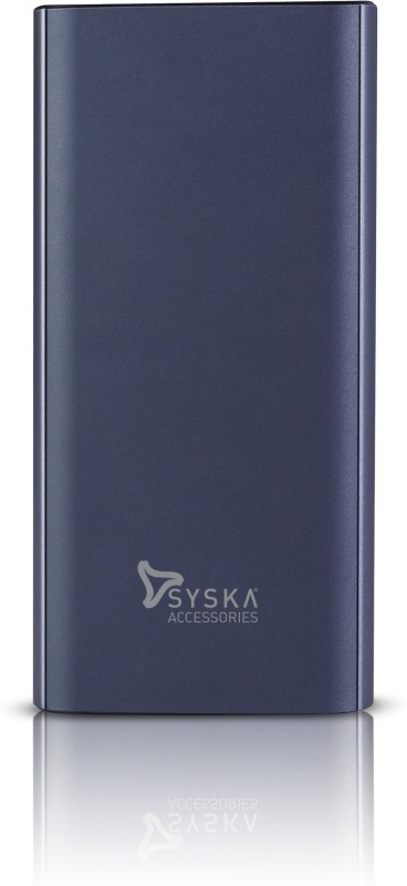 Syska 20000 mAh Power Bank (Fast Charging)(Blue, Lithium Polymer)