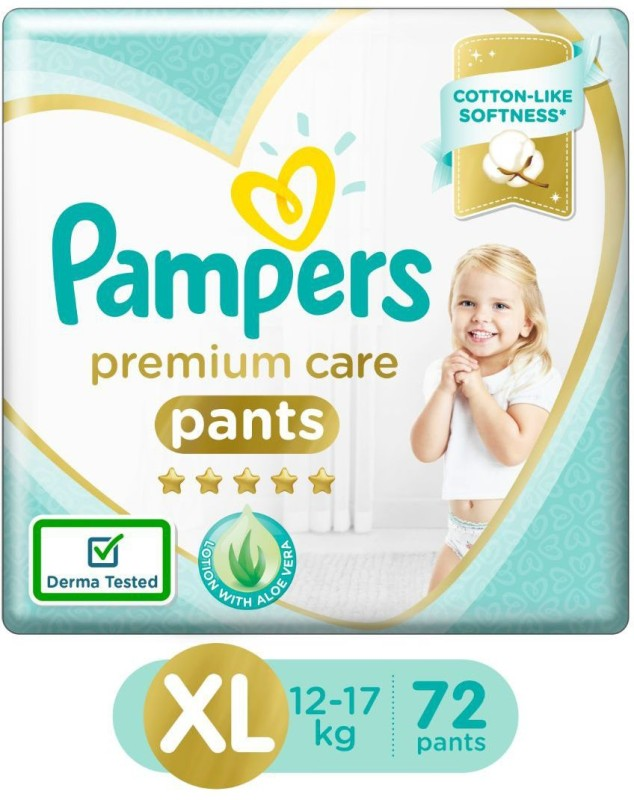 Pampers Premium Care Pants Diapers Monthly Box Pack - XL(72 Pieces)