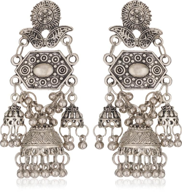 Darshini Designs Trendy Oxidized Earrings For Women Alloy Jhumki Earring