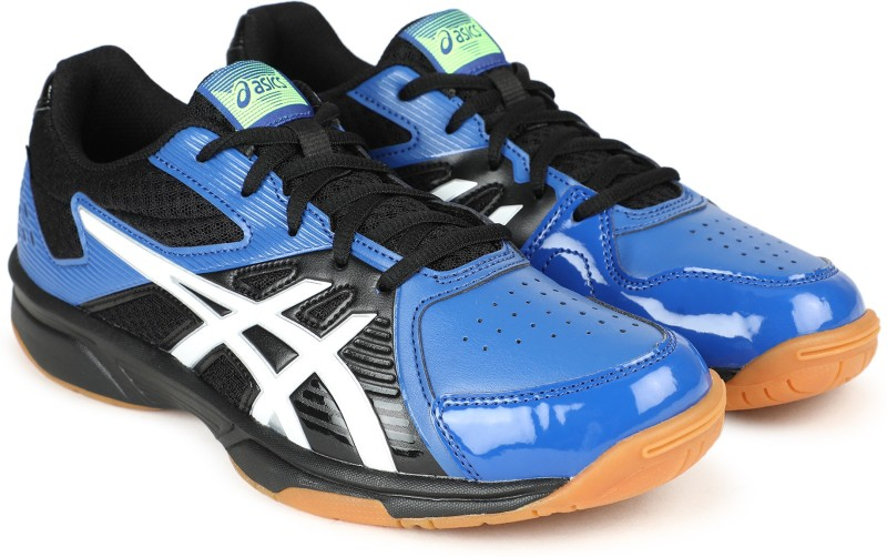 Asics Court Break Badminton Shoe For Men(Black, Blue)