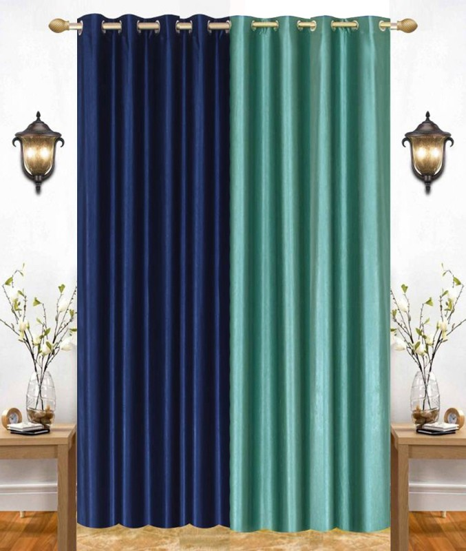 check MRP of turquoise blue curtains India Furnish