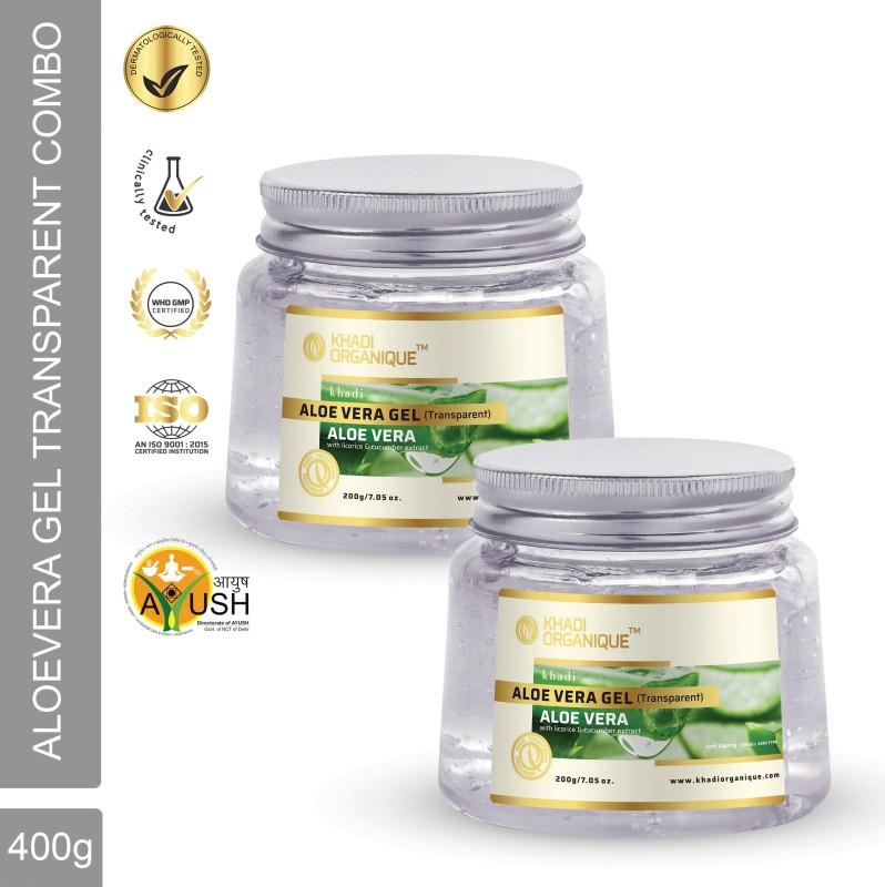 Khadi Organique Aloevera Gel (Transparent )(400 g)