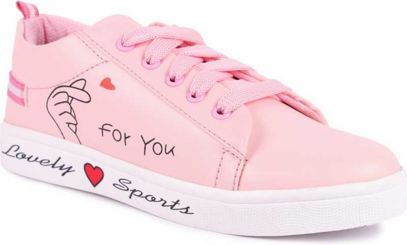 Rindas Perfect Stylish Girls Casual Shoes Sneakers For Women Sneakers For Women(Pink)
