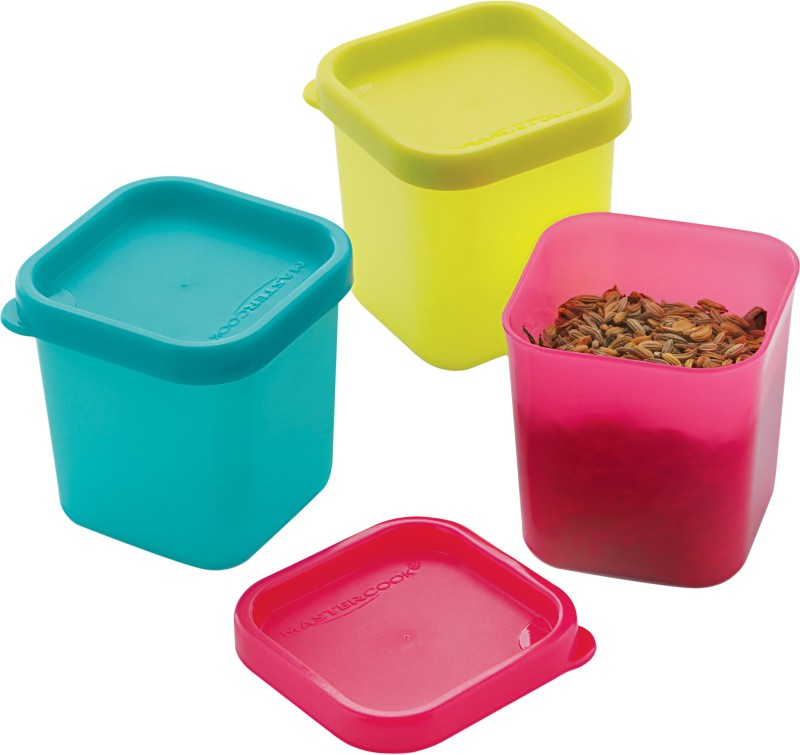 MasterCook - 300 ml Polypropylene Fridge Container(Pack of 3, Multicolor)