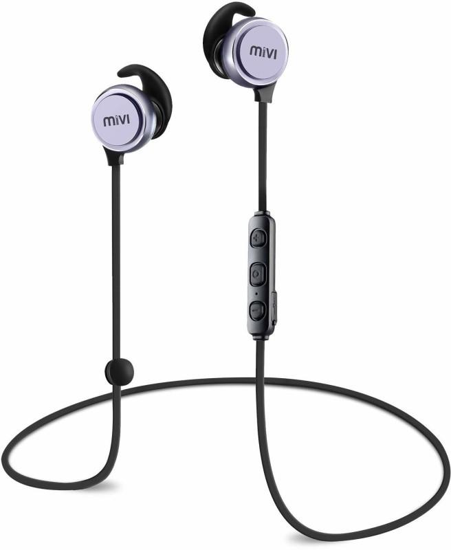 Mivi Thunder Beats Bluetooth Headset(Gun metal/Black, Wireless in the ear)