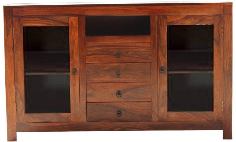 DHI Woodcrafts Solid Wood Free Standing Cabinet(Finish Color - honey)
