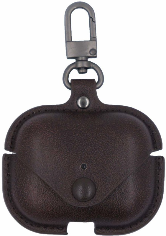 Esaanvika Front & Back Case for APPLE AirPods Pro 2019 Case Cover I Genuine Leather Case Cover(Brown, Dual Protection)