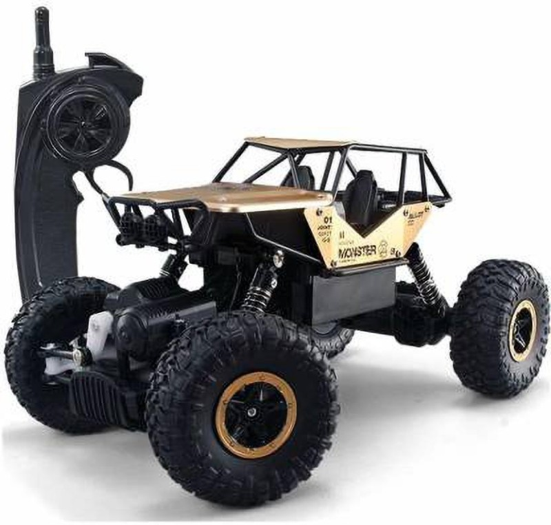 HPH CRAFT Metal Remote Controlled Rock Crawler RC Monster Truck (Gold)(Gold)