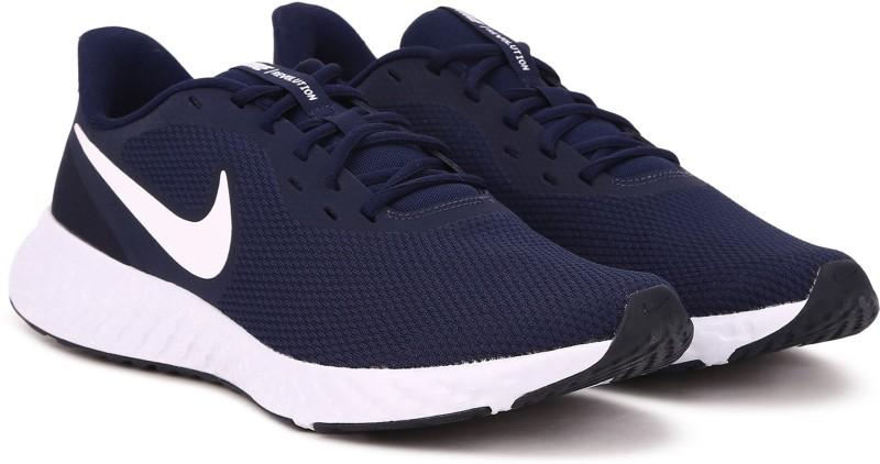 Nike REVOLUTION 5 Running Shoes For Men(Navy)