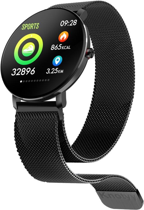 Knotyy OFIT Black Smartwatch  (Black Strap Regular)