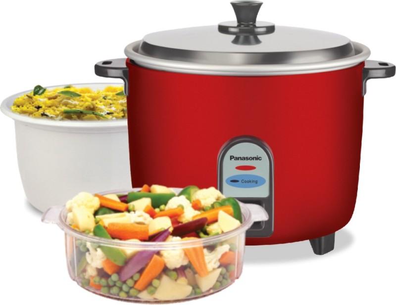 Panasonic SR-WA10 CMB Food Steamer, Rice Cooker Combo Gift Pack, 1 Ltr /0.6 kg Rice Cooker, Food Steamer(1 L, Burgundy)