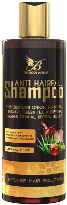 The Body Avenue Anti Hair Fall Shampoo, Promotes Hair Growth, Reduce Dandruff with Onion, Bhringraj, Honey, Green Tea, Aloevera, Shikakai, Reetha, Brahmi(200 ml)