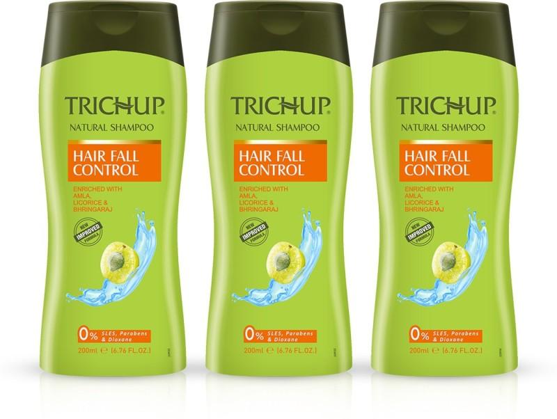 Trichup Hair Fall Control Herbal Shampoo - 200 ml (Pack of 3)(200 ml)