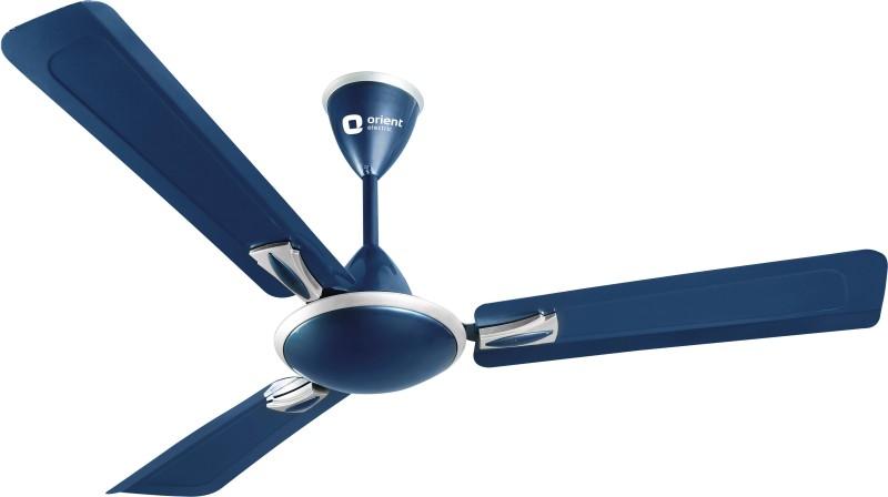 Orient Electric GRATIA 1200 mm 3 Blade Ceiling Fan(Azure Blue Silver, Pack of 1)