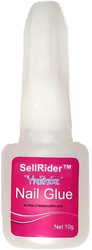 SellRider Imported Best Quality Nail Glue 10g Super Strong Adhesive For False Nails Fake Acrylic Nail Rhinestone Beauty Makeup Gel Tips Nail(white)