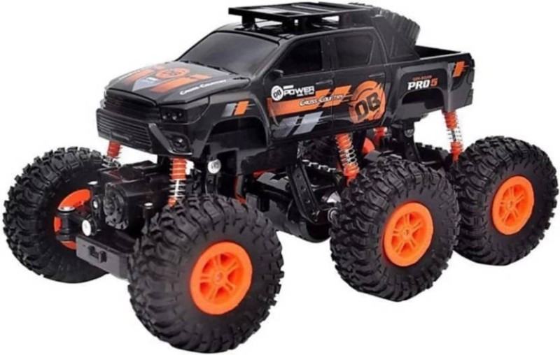 HORNFLOW Wheel Rock Crawler Remote Control Car, Monster Truck, Rechargeable  (Orange)(Orange)