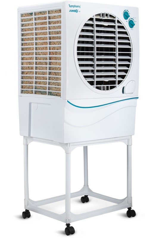 Symphony 51 L Desert Air Cooler(White, Jumbo 51 with_Trolley)