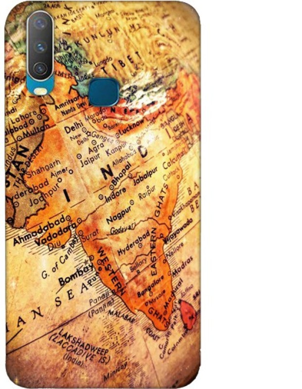 SY Gifts Back Cover for Vivo Y19 India Map Back Cover(Multicolor)