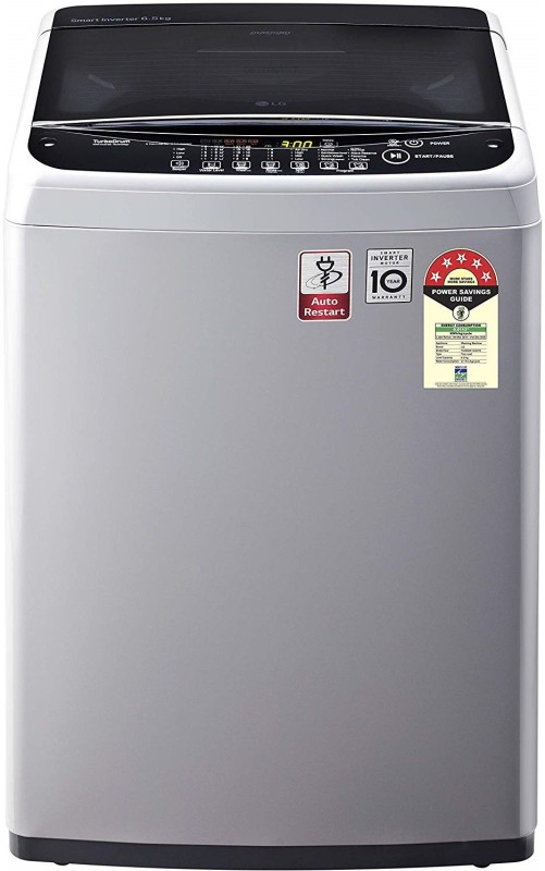 LG 6.5 kg 5 Star Rating Fully Automatic Top Load Silver(T65SNSF1Z)