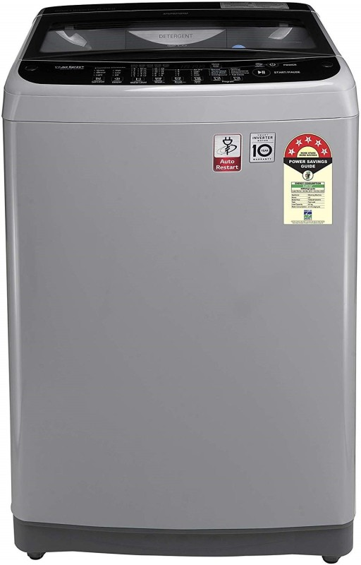 LG 6.5 kg 5 Star Rating Jet Spray Fully Automatic Top Load Silver(T65SJSF3Z)