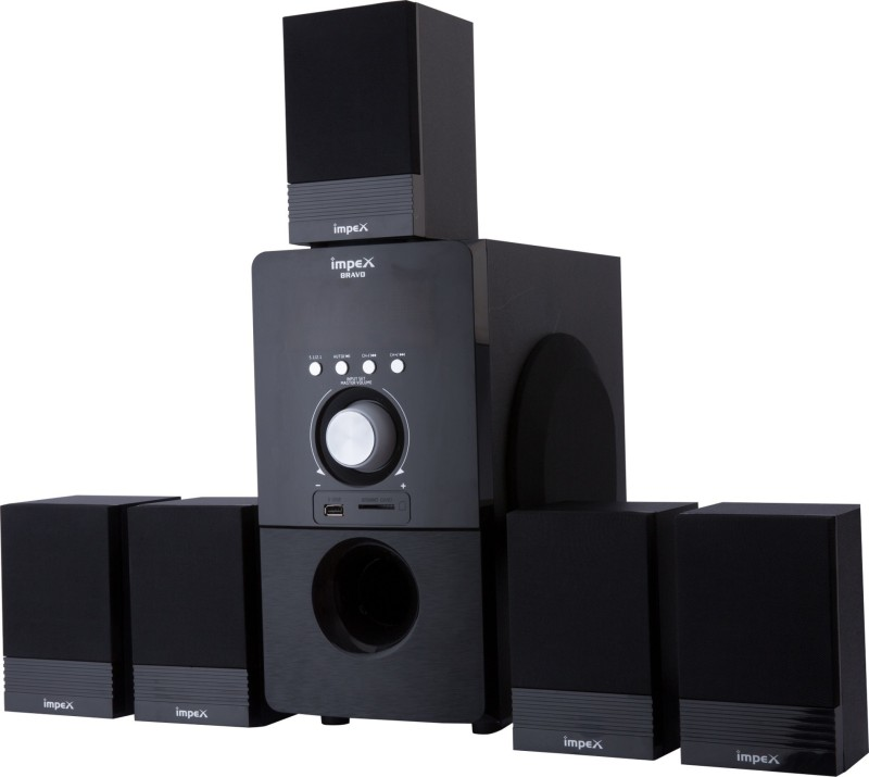 Impex Multimedia 5.1 (BRAVO) Bluetooth Home Theatre(Black, 5.1 Channel)
