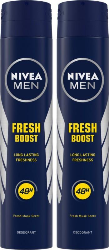Nivea MEN Deodorant, Fresh Boost, 200ml (Pack of 2) Body Spray - For Men(400 ml, Pack of 2)