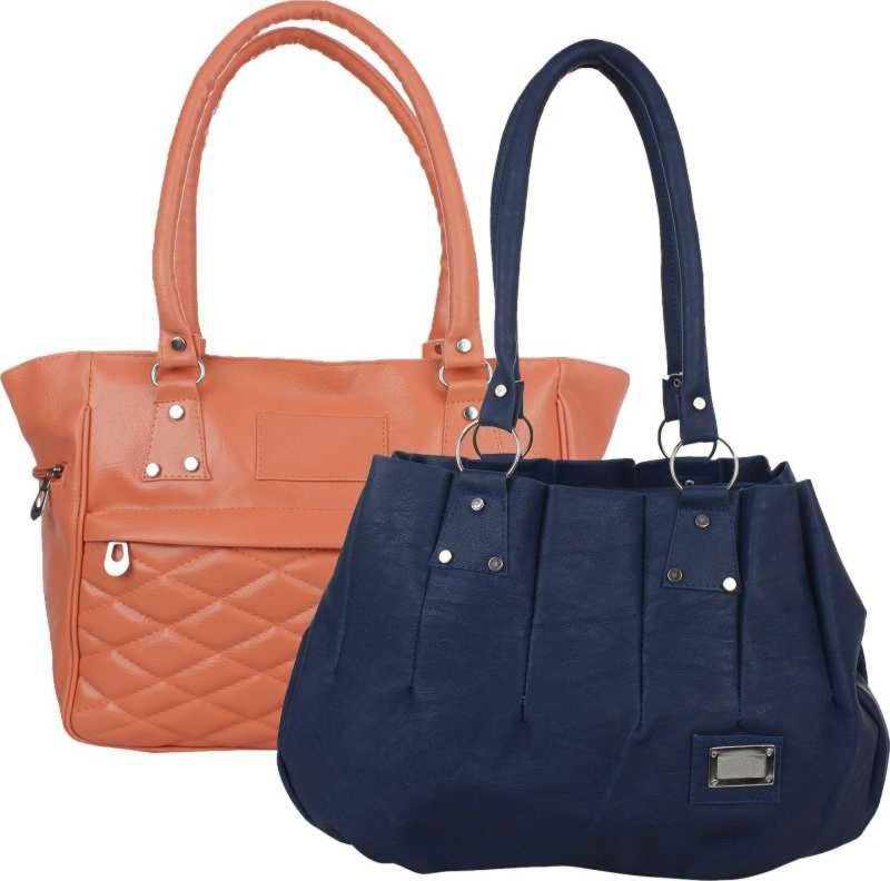 Online Hub Women Blue, Pink Handbag
