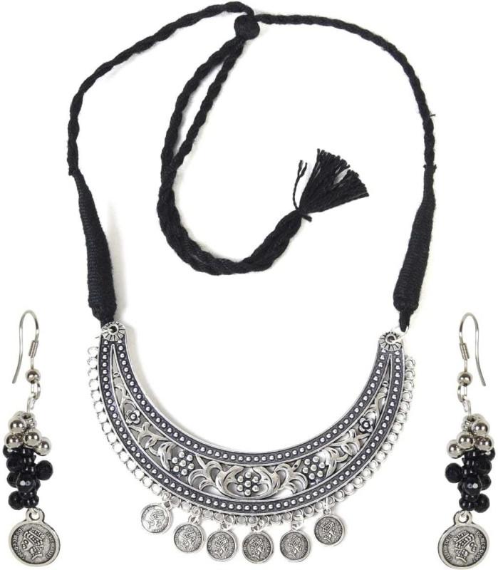 EYEPOPPING Oxidised Silver Jewel Set(Black, Silver)