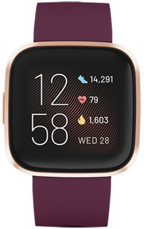 Fitbit Versa 2 Smartwatch(Purple Strap Regular)