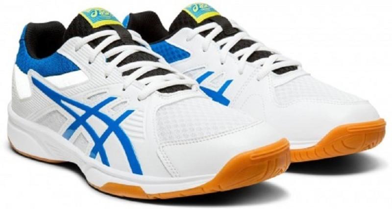 Asics UPCOURT 3 Badminton Shoes For Men(White, Blue)