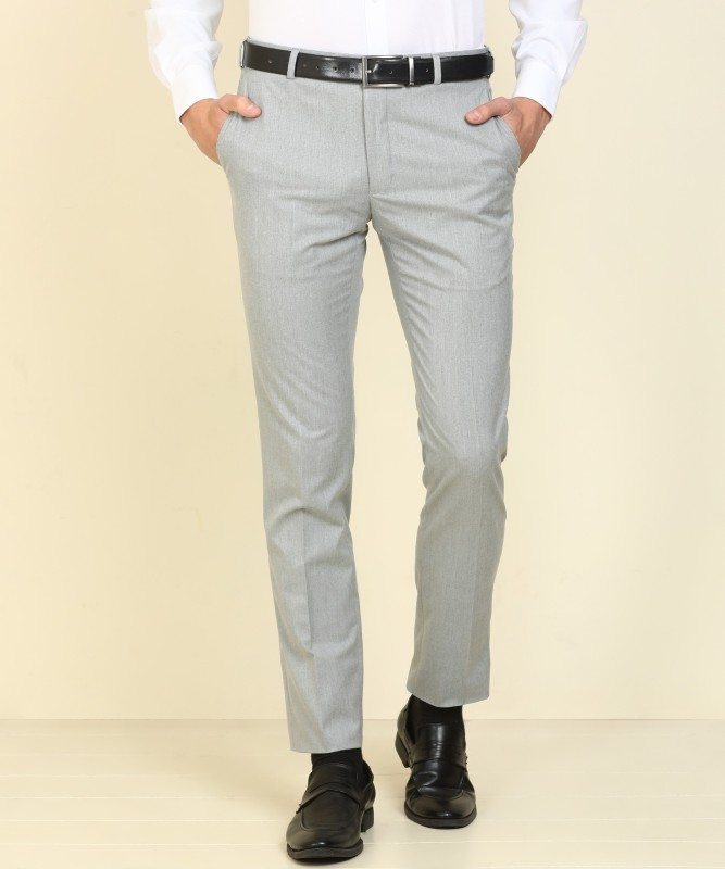 Raymond Slim Fit Men Grey Trousers