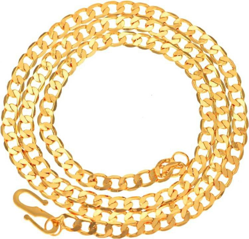 Fedput Stylish & Trendy Most Popular Beautiful Design Golden light Gold Plated Chain Gold-plated Plated Brass Necklace