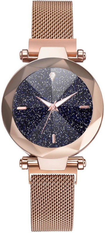 Rishtey Girls And Women Magnetic Rosegold Italy Movement Analog Watch - For Women