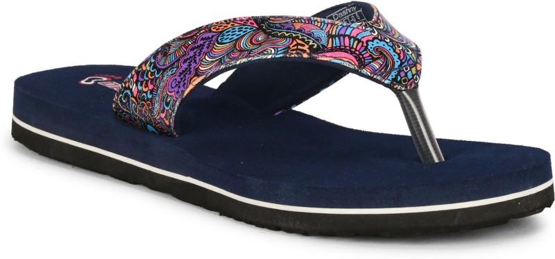 Dashny Women Printed-165 Stylish comfortable health indoor/outdoor slippers & flip flops (Navy) Slippers