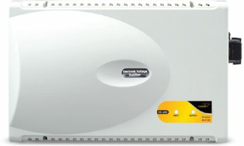 V Guard VG 400 SMART FOR INV OR NON INV AC (170v TO 270V) Stabilizer for AC UPTO 1.5TON(White)