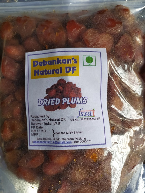 Debankan's Natural DF Dried Plums / Alu Bukhara Plums Plums(1 kg)