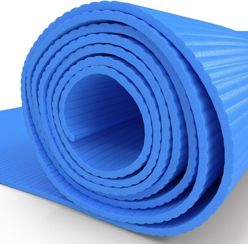 Fitness Mantra Anti-Slip Yoga mat for Gym Workout Blue 6 mm Yoga Mat