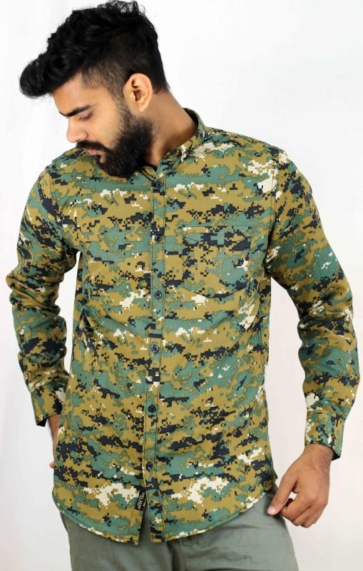 Indi Hemp Men & Women Printed Casual Multicolor Shirt