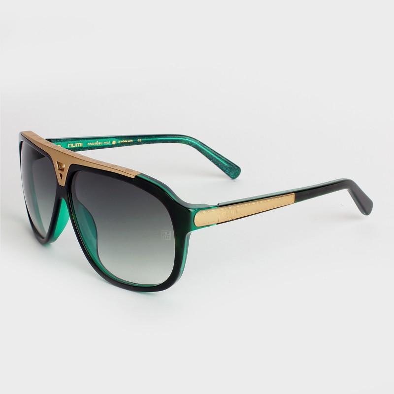 NUMI Paris Aviator Sunglasses(Green)