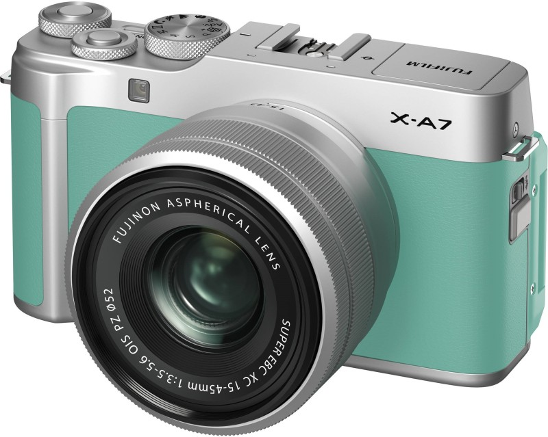 Fujifilm X Series X-A7 Mirrorless Camera Body With 15-45 mm Lens(Green)