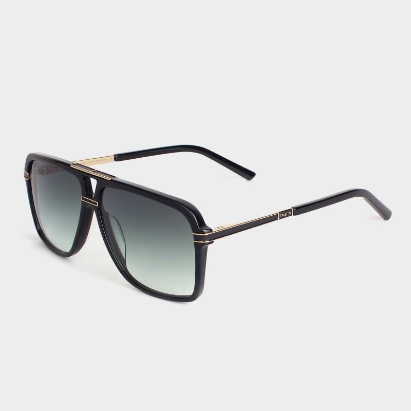 NUMI Paris Retro Square Sunglasses(Green)