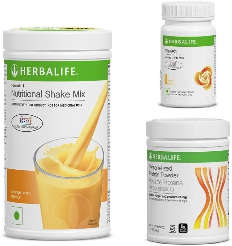 Herbalife F1 ORANGE SHAKE P PROTIEN AND AFRESH LEMON COMBO Combo(Shake - 500 gm, protein powder - 200 gm, Energy drink mix - 50 gm)