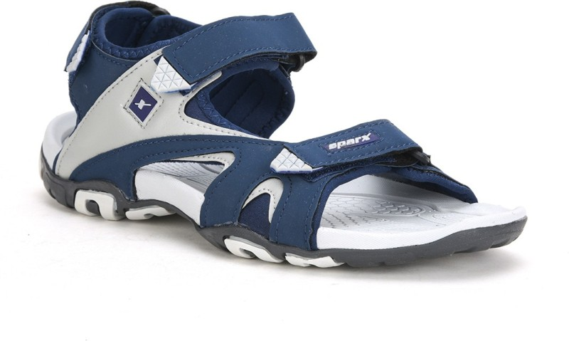 Sparx SS-453 Men Blue, Off White Sports Sandals