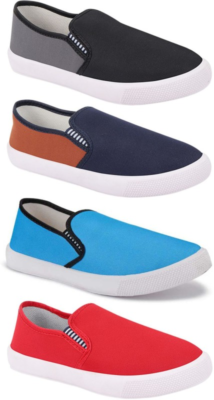 Aura Combo Pack of 4 Casual Shoes Loafers For Men(Multicolor)
