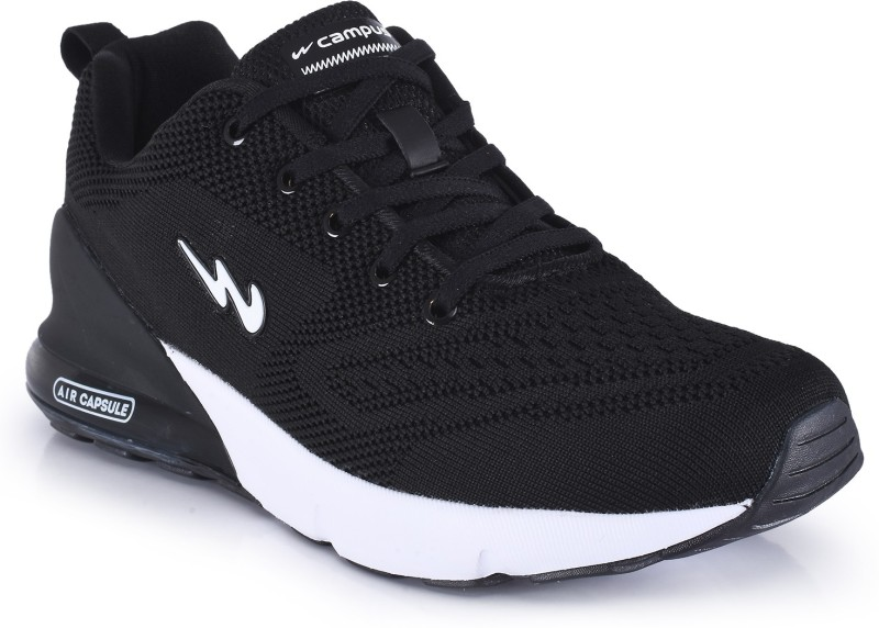 Campus NORTH Running Shoes For Men(Black)