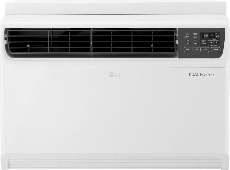 LG 1 Ton 5 Star Window Dual Inverter AC - White(JW-Q12WUZA, Copper Condenser)