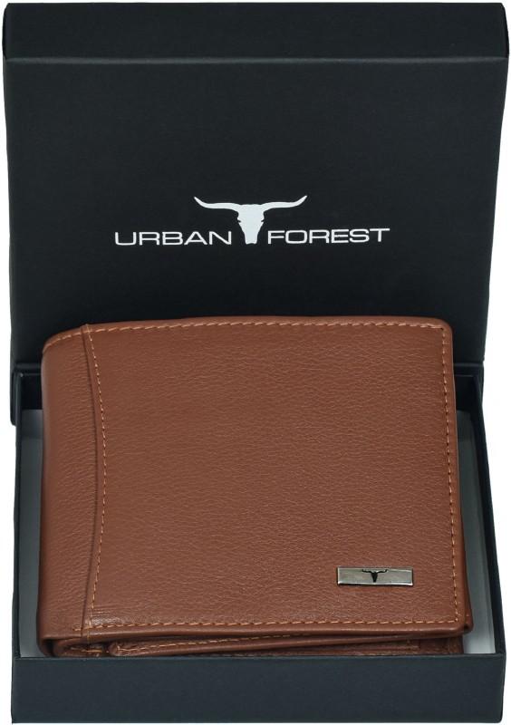 URBAN FOREST Men Tan Genuine Leather Wallet(6 Card Slots)