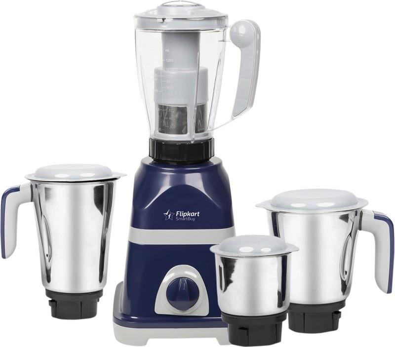 Flipkart SmartBuy Vortex SB75HMMK 750 W Juicer Mixer Grinder(Blue, Grey, 4 Jars)