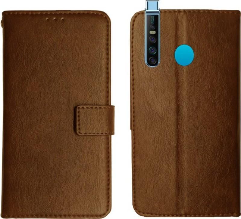 SIMNA CASE Wallet Case Cover for Tecno Camon 15 PRO(Khaki)